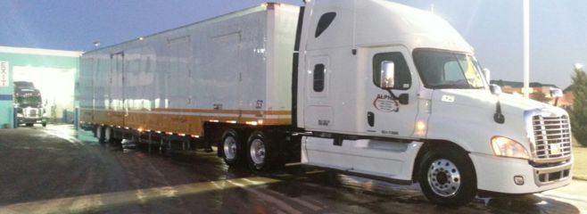 Freshly washed tractor & trailer ready to move locally or across the country.